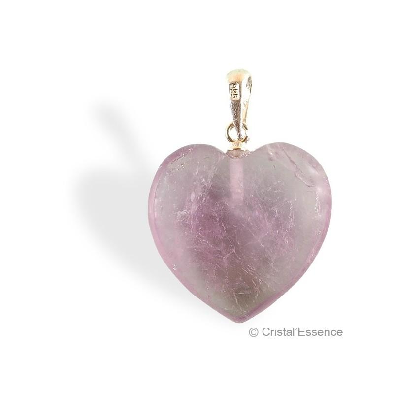 Améthyste, pendentif cœur