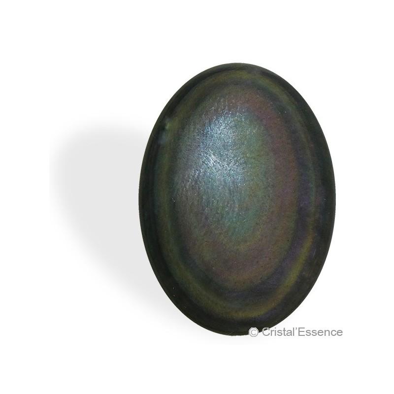 Obsidienne Arc-en-Ciel (ou Œil Céleste), cabochon