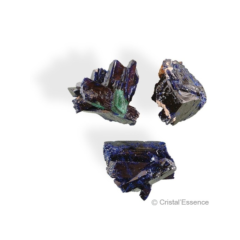 Azurite, cristal, pointe unique