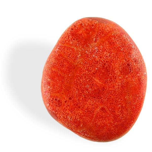 Corail rouge, galet plat