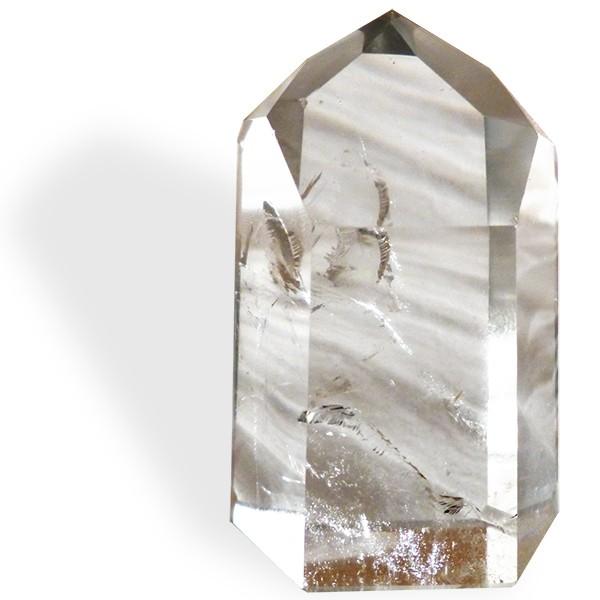 Cristal de roche, prisme taillé