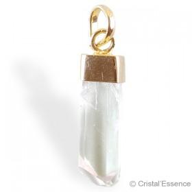 Danburite, cristal pendentif plaqué or