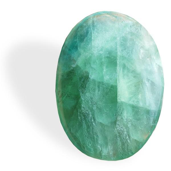 Fluorite verte, petit et grand galet