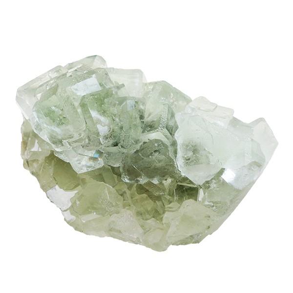 Fluorite vert pâle, groupe de cristaux