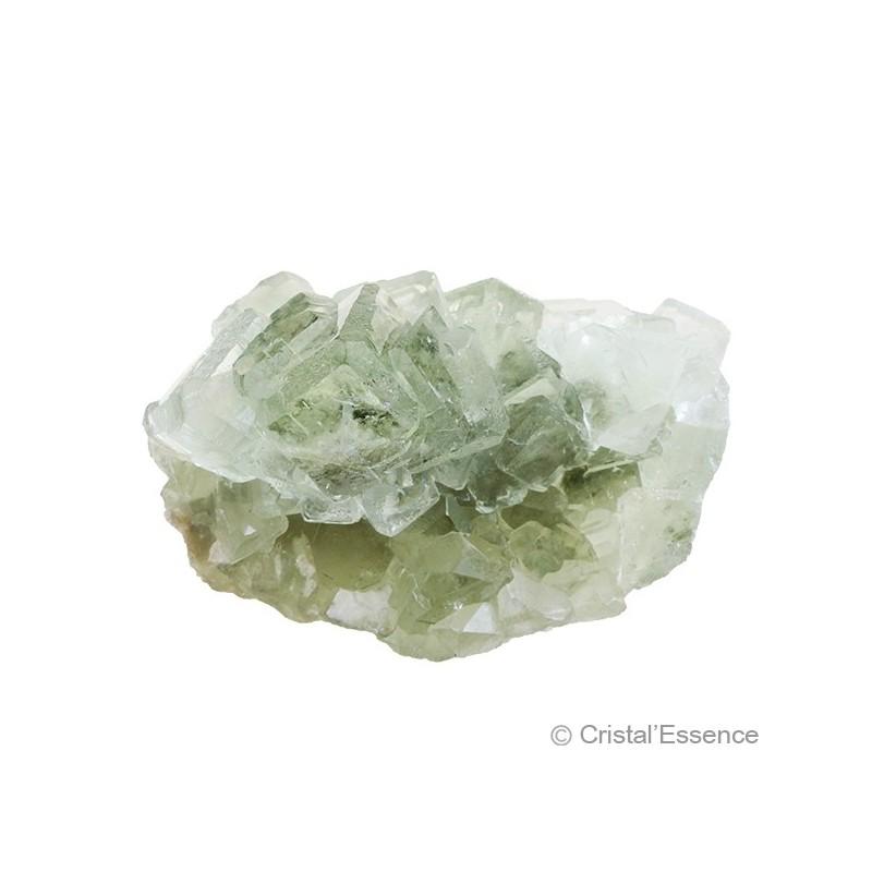 Fluorite vert pâle, groupe de cristaux 2