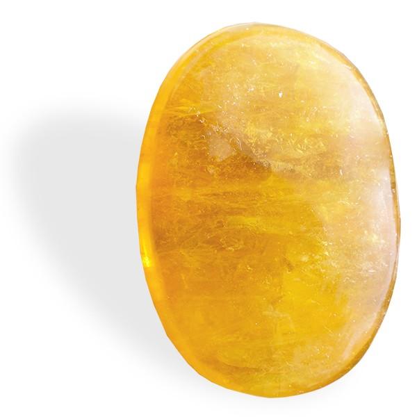 Fluorite jaune, petit et grand galet