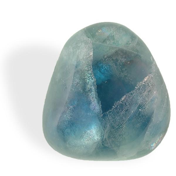Fluorite bleue, roulée