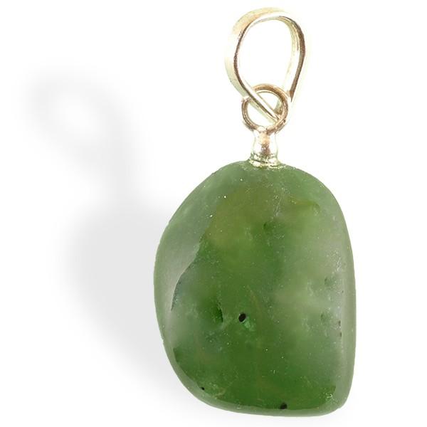 Jade néphrite roulé, pendentif