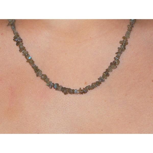 Labradorite, collier baroque