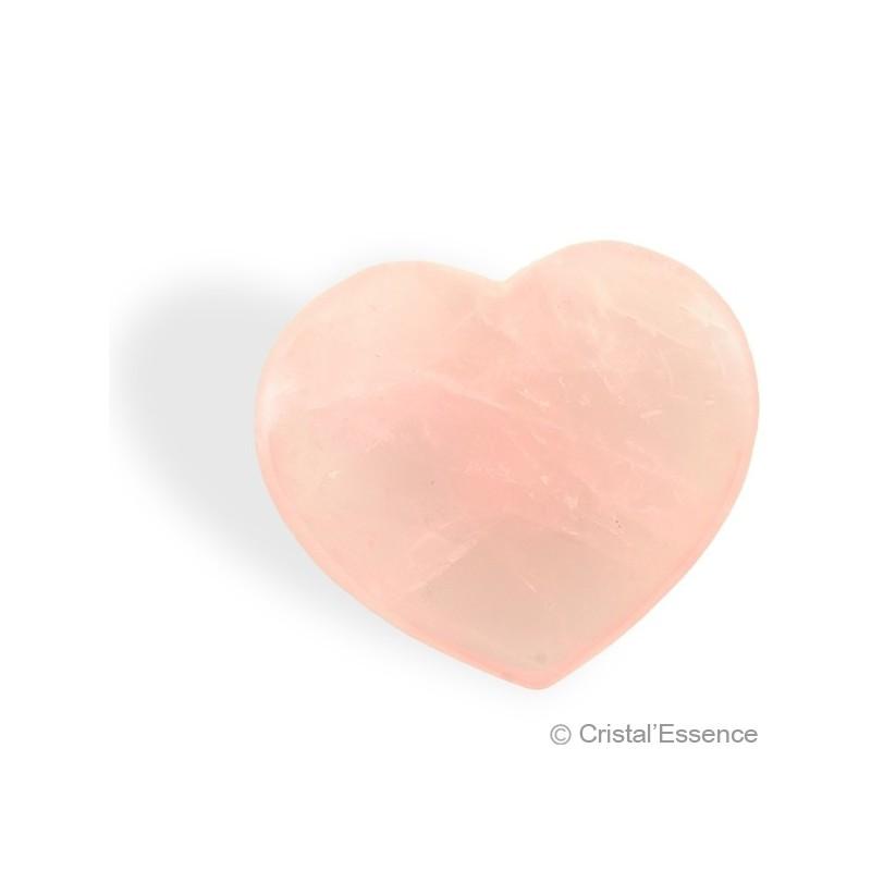 Quartz rose, coeur