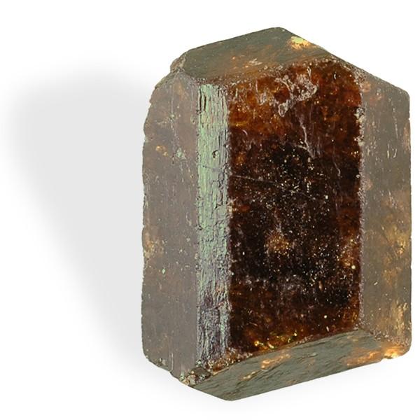 Tourmaline brun-ocre, cristal biterminé