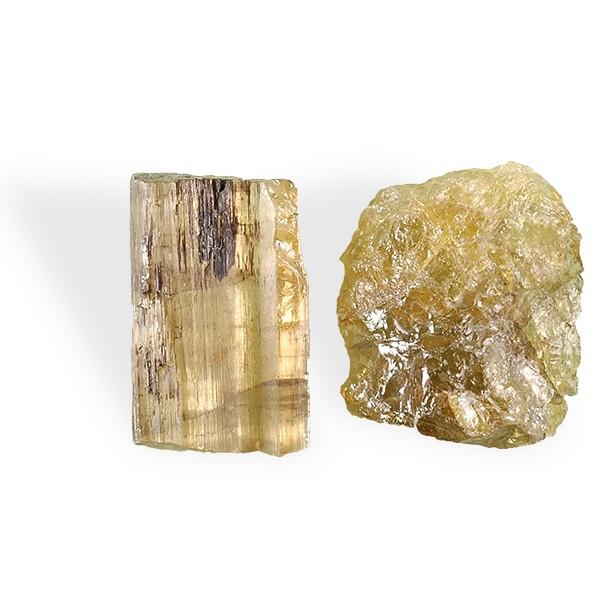 Tourmaline jaune-ocre, brut