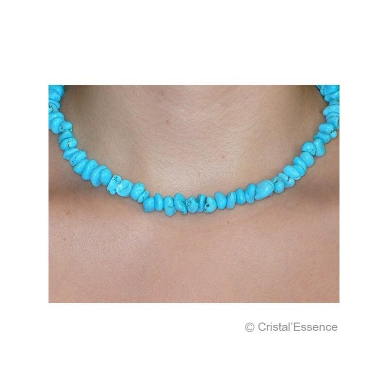 Turquoise stabilisée, collier