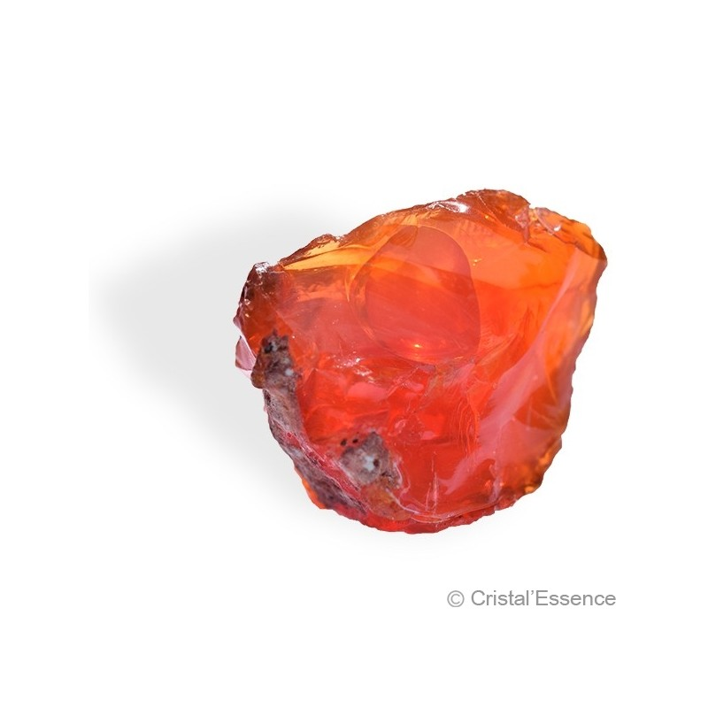 Opale de Feu, brut grande orange foncé 2