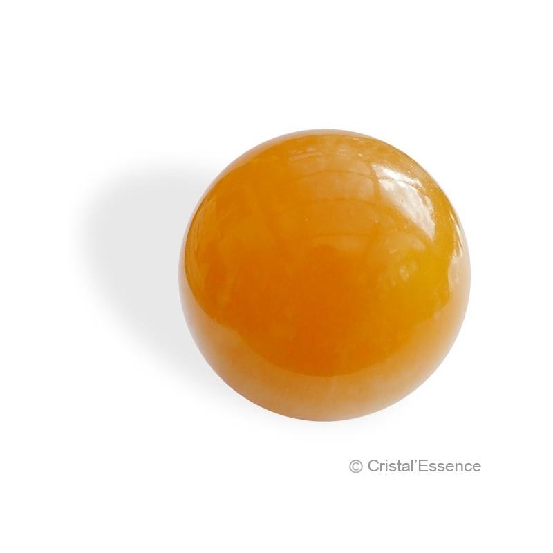Calcite orange, sphère 1
