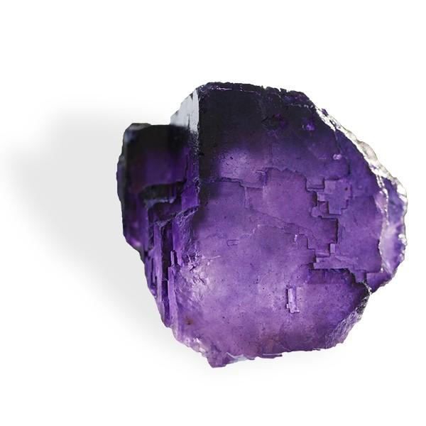 Fluorite violette, cristaux cubes