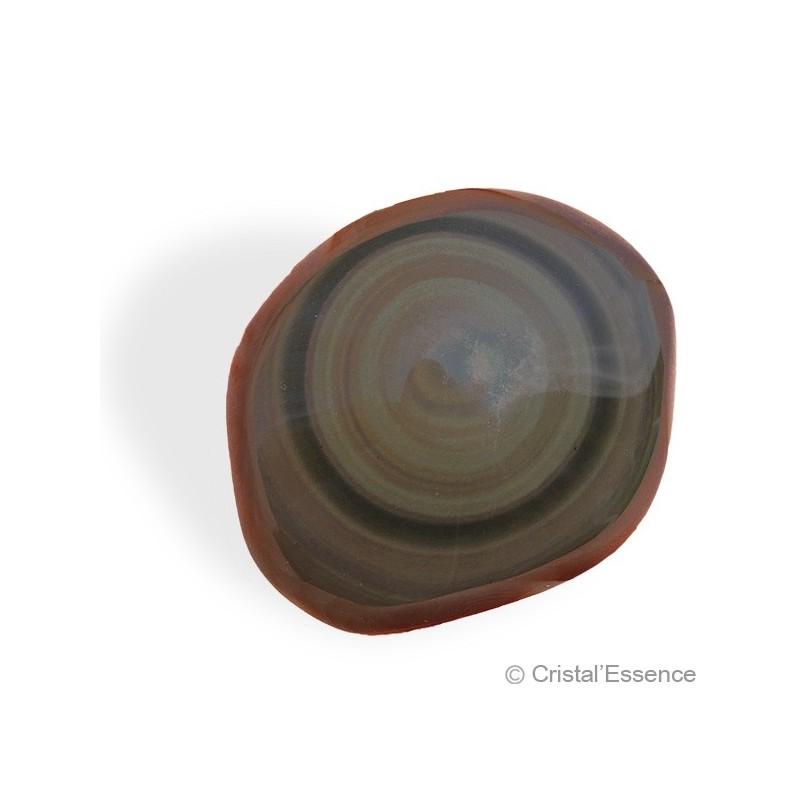 Obsidienne Arc-en-Ciel (ou Œil Céleste), cabochon arrondi irrégulier 2