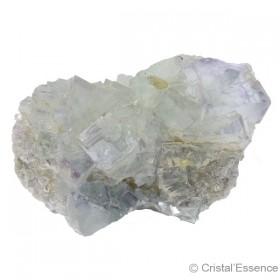 Fluorite bleu-vert pâle, groupe de cristaux
