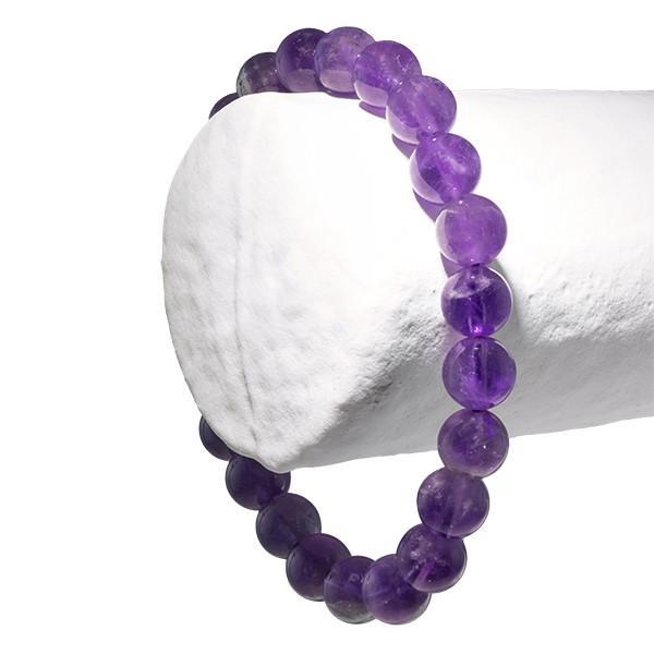 Améthyste, bracelet 2 perles 8 ou 6 mm