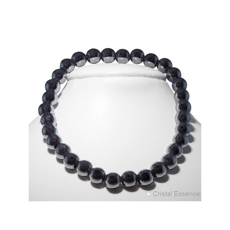 Hématite, bracelet perles 6mm