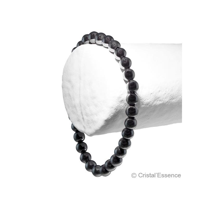 Hématite, bracelet 2 perles 6mm