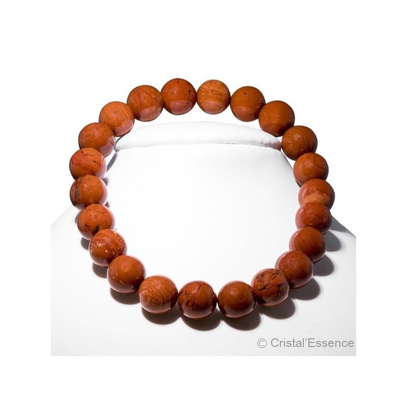 Jaspe rouge, bracelet perles 8 mm ou 6mm