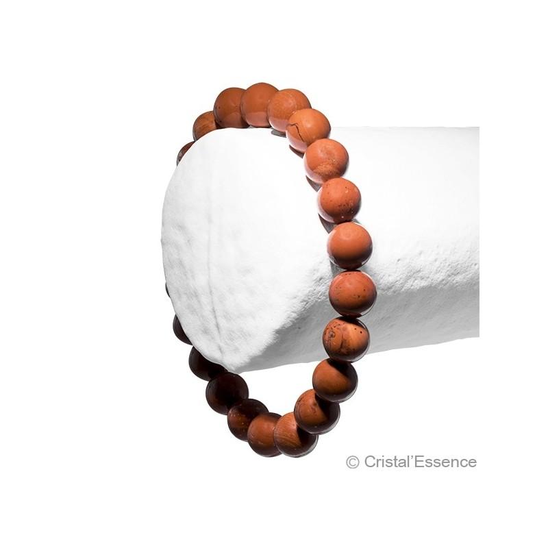 Jaspe rouge, bracelet 2 perles 8 mm ou 6mm