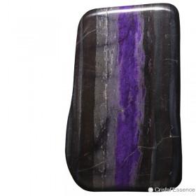 Sugilite, plaque violet/noir