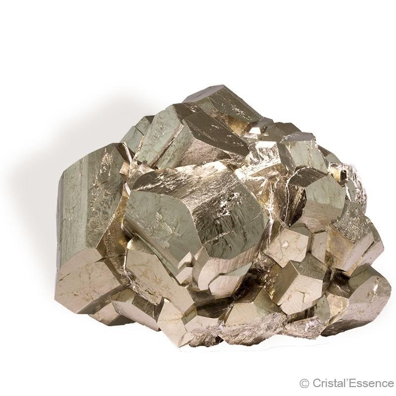 Pyrite,  groupe cristaux, 398g