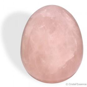 Quartz rose, œuf de yoni percé