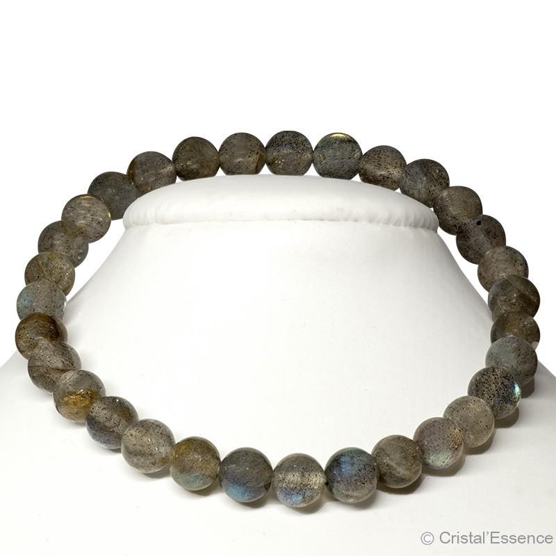 Labradorite, bracelet perles 6mm