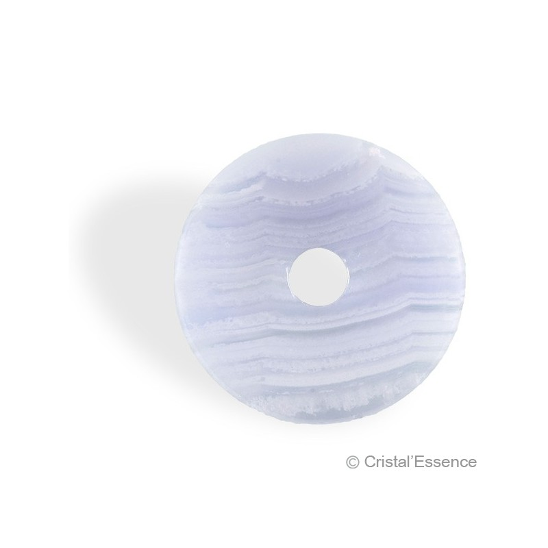Calcédoine bleue veinée, donut