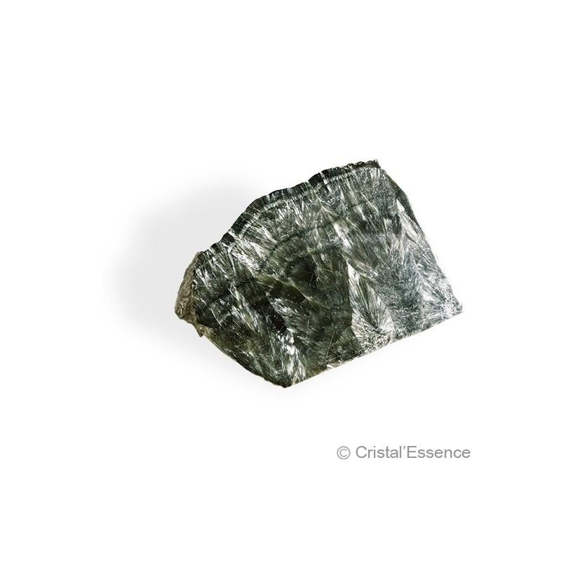 Séraphinite, tranche bord brut