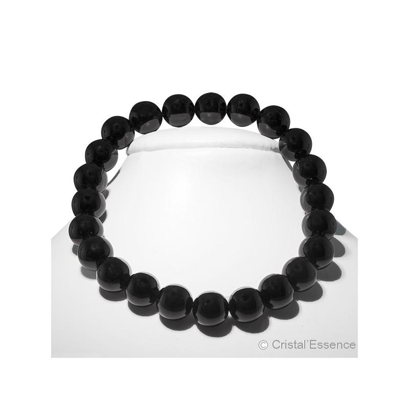 Tourmaline noire, bracelet perles 8mm ou 6mm