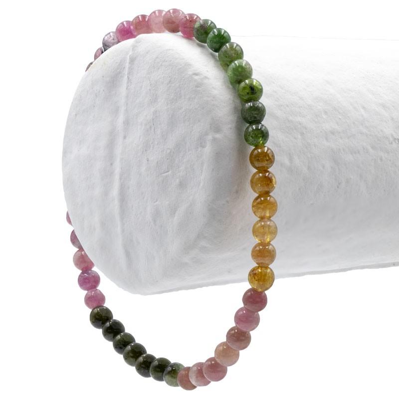 Tourmalines, bracelet perles de 4 mm