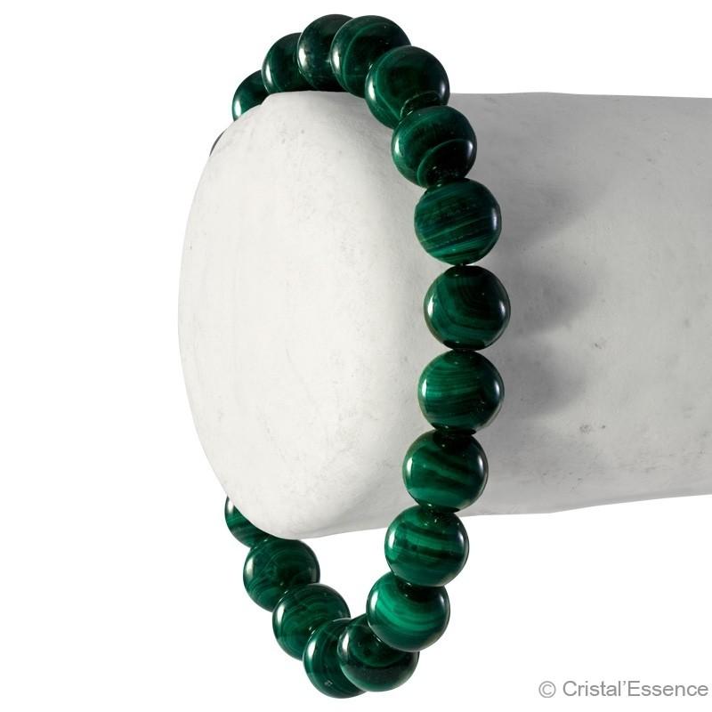 Malachite, bracelet perles 8 ou 6 mm