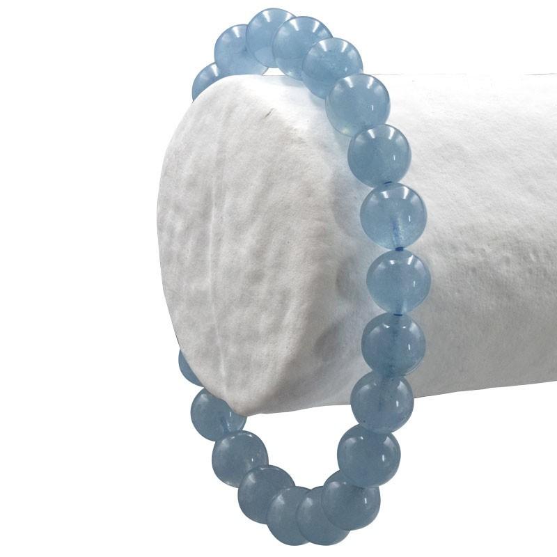 Aigue marine bleu soutenu, bracelet