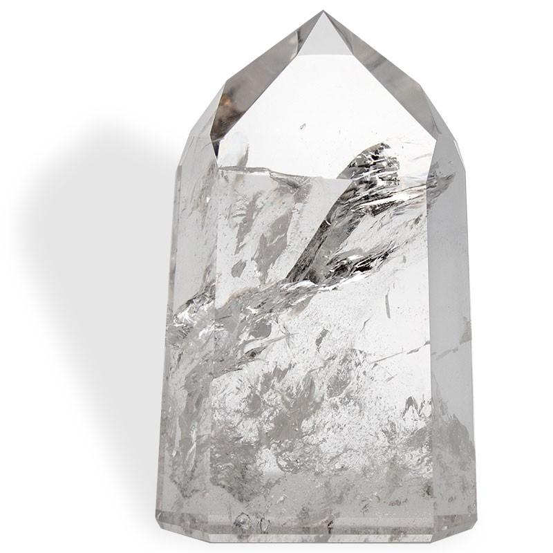 Cristal de roche, grand prisme taillé 608 g