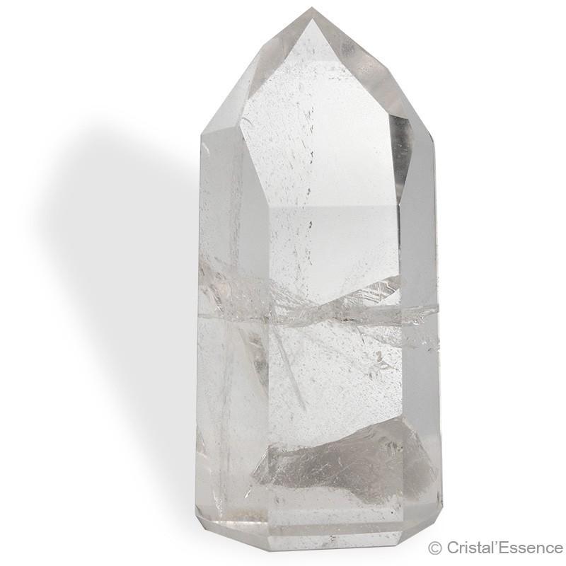 Cristal de roche, grand prisme taillé 553 g
