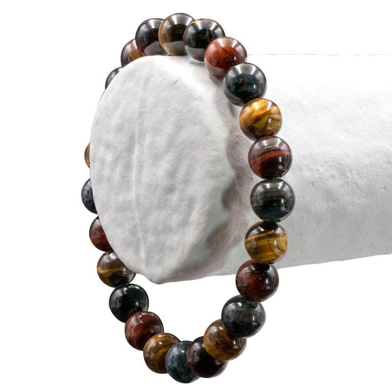 "Bracelet ""3 oeils"", perles 10 mm, 8 mm ou 6 mm"