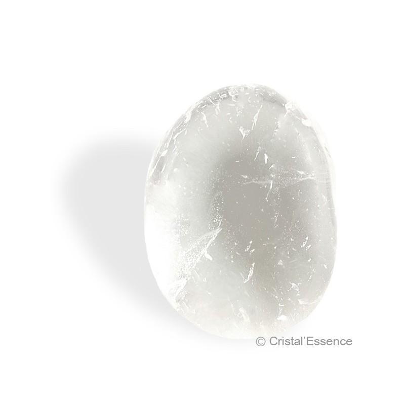 Cristal de roche, galet plat