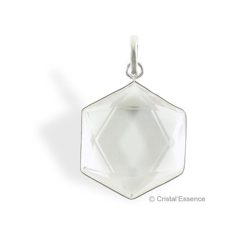 Cristal de roche, pendentif étoile