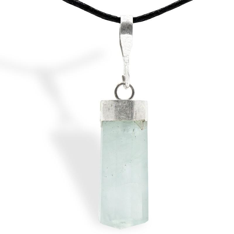 Aigue marine,  pendentif cristal poli