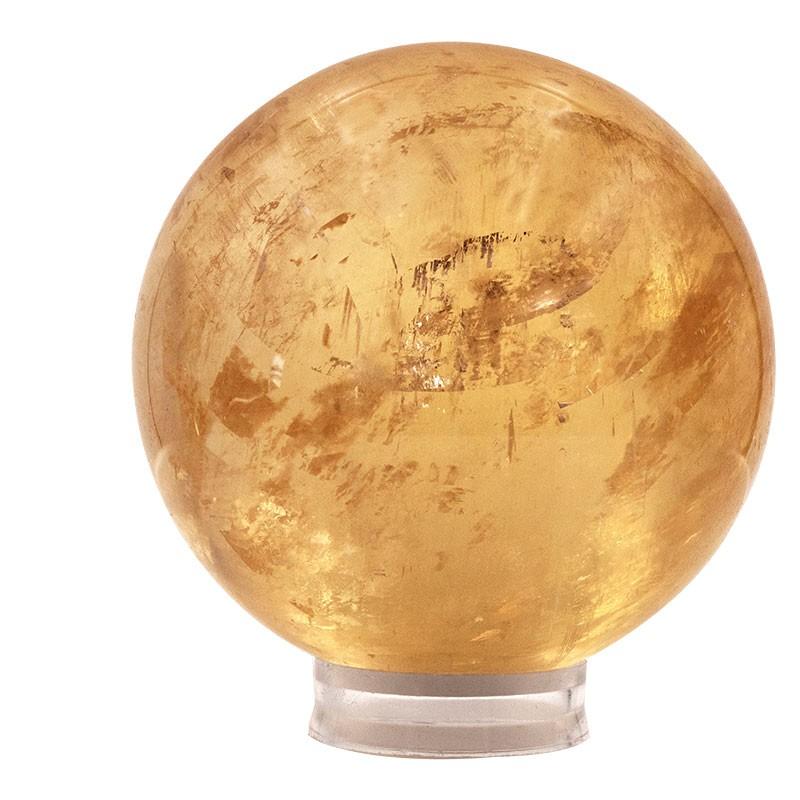 Calcite miel, grande sphère