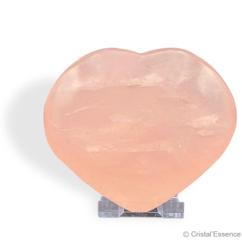 Quartz rose, coeur grande dimension
