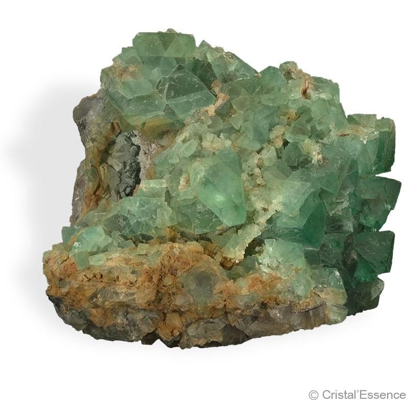 Fluorite verte, grand groupe de cristaux 3,860 kg