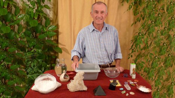 La purification des pierres et cristaux