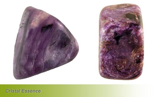 Charoïte, pierre roulée
