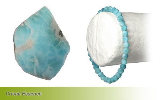 Le Larimar plaque et bracelet
