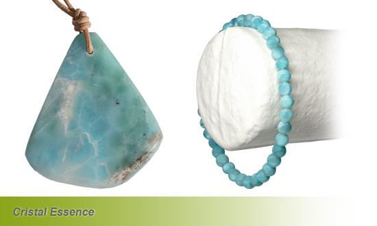 Le larimar bracelet et plaque
